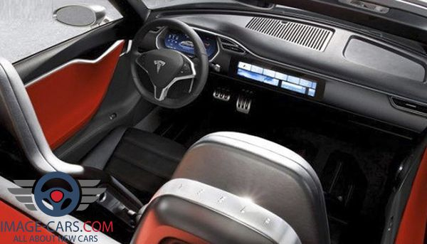 Dashboard view of Tesla Roadster of 2018 year