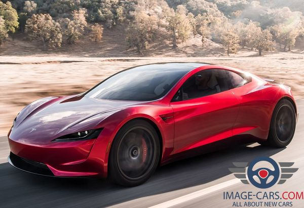 Front Left side view of Tesla Roadster of 2018 year