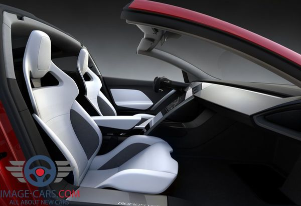 Salon view of Tesla Roadster of 2018 year