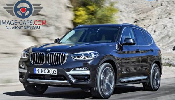 Front view of BMW X3 of 2018 year