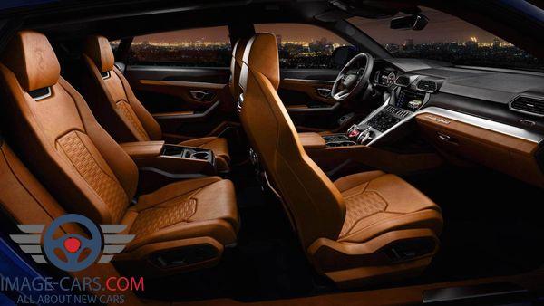 Salon view of Lamborghini Urus of 2018 year