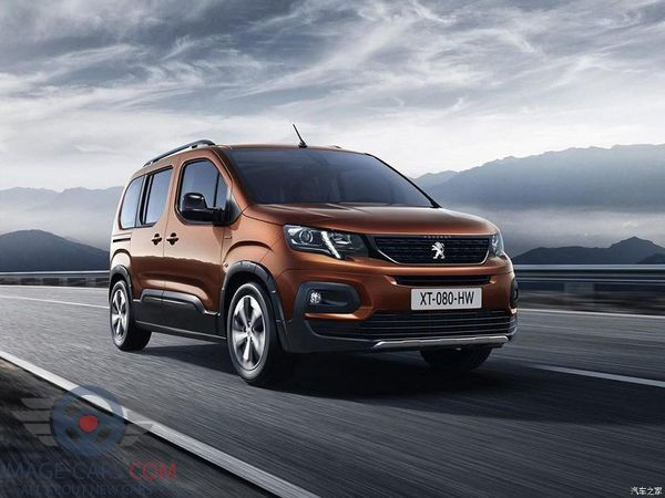 Front view of Peugeot Rifter of 2019 year