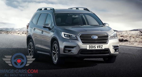 Front view of Subaru Ascent of 2018 year