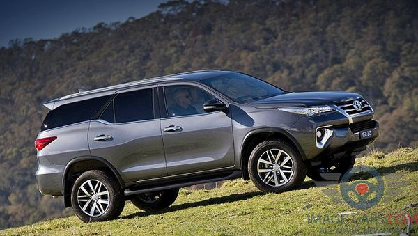 Right side of Toyota Fortuner of 2018 year