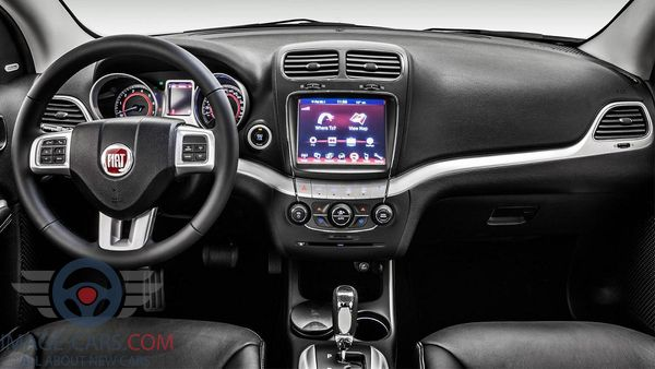 Dashboard view of Fiat Doblo of 2018 year