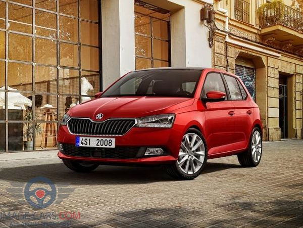 Front Left side of Skoda Fabia of 2018 year