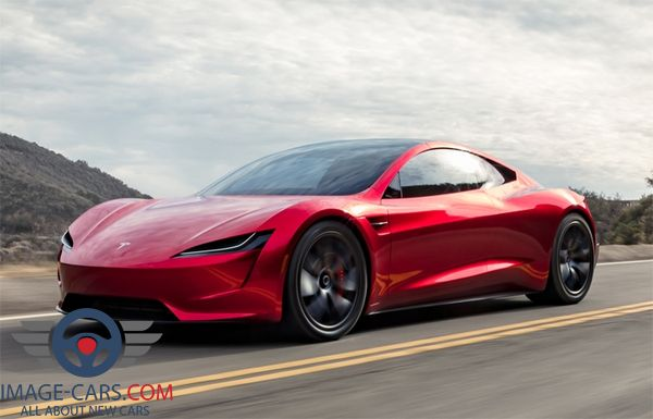 Front Left side of Tesla Roadster of 2018 year