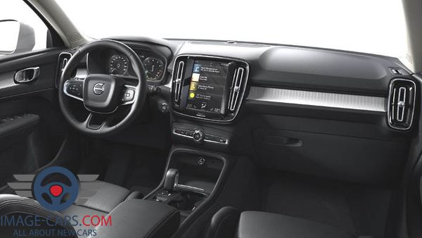 Dashboard view of Volvo CX 40 of 2018 year