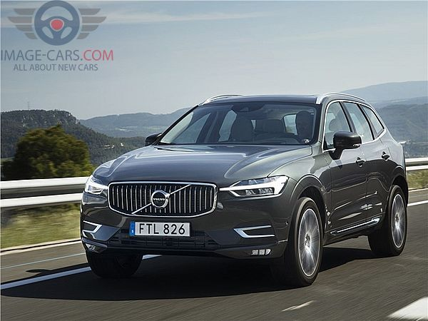 Front view of Volvo XC60 of 2018 year