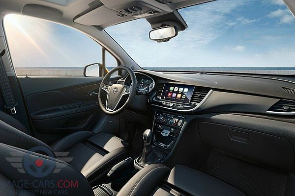Dashboard view of Opel Mokka of 2018 year
