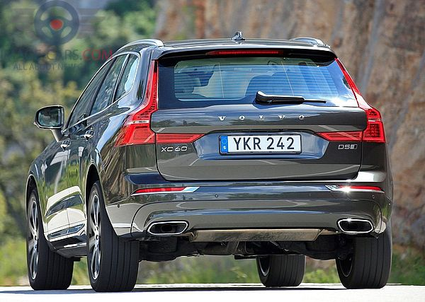 Rear view of Volvo XC60 of 2018 year