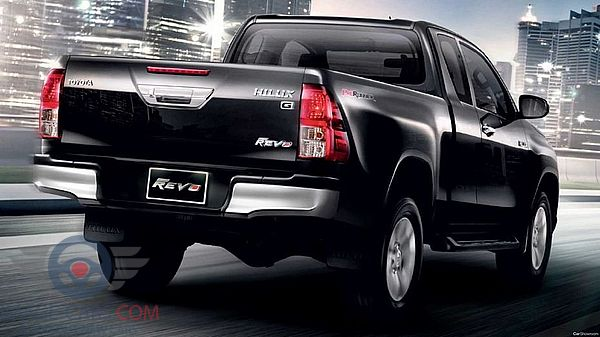 Rear view of Toyota Hilux of 2018 year