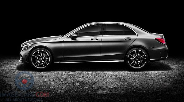 Left side of Mercedes Benz C class of 2019 year