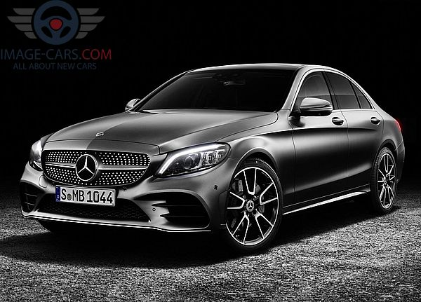 Front Left side of Mercedes Benz C class of 2019 year