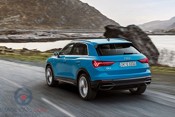 Rear view of Audi Q3 of 2018 year