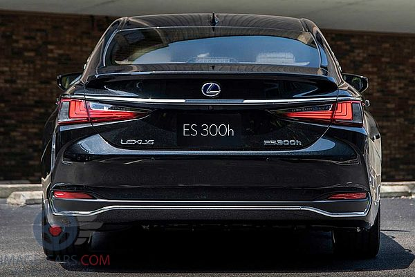 Rear view of Lexus ES of 2018 year