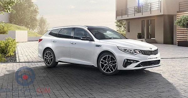 Front Right side of Kia Optima of 2019 year