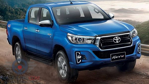 Front view of Toyota Hilux of 2018 year