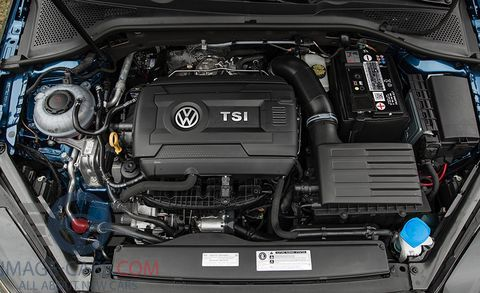 Engine view of Volkswagen Golf of 2018 year