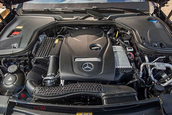 Engine view of Mercedes Benz C class of 2019 year
