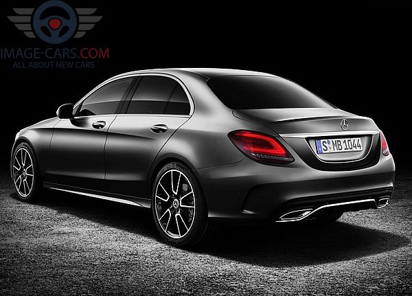 Rear Left side of Mercedes Benz C class of 2019 year