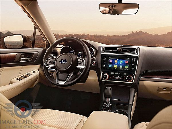 Dashboard view of Subaru Outback of 2018 year