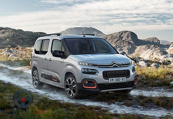 Front Right side of Citroen Berlingo of 2019 year