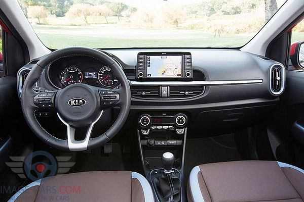 Dashboard view of Kia Picanto of 2018 year