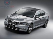 Front Left side of Skoda Superb of 2018 year