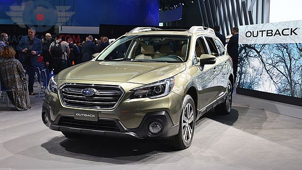 Front view of Subaru Outback of 2018 year