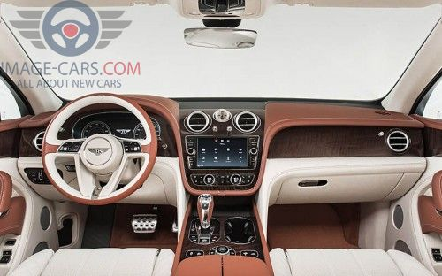 Dashboard view of Bentley Bentayga of 2017 year