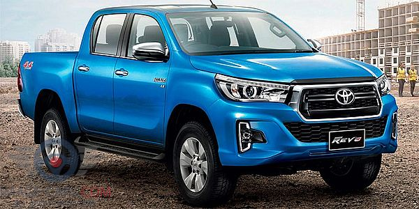 Front Right side of Toyota Hilux of 2018 year