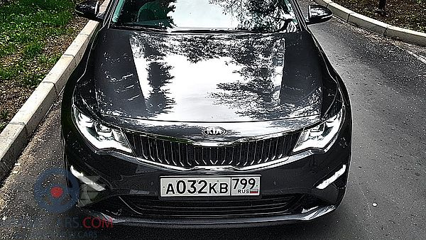 Front view of Kia Optima of 2019 year