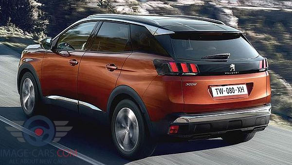 Rear Left side of Peugeot 3008 of 2018 year