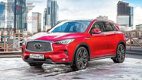 Front Left side of Infiniti QX50 of 2019 year