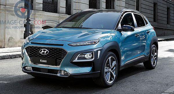 Front Left side of Hyundai Kona of 2018 year