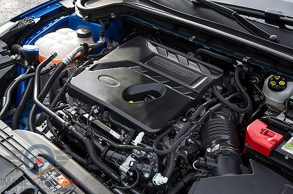 Engine view of Ford Focus of 2018 year