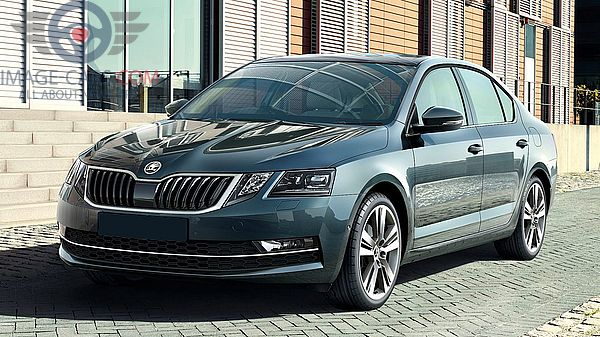 Front Left side of Skoda Octavia of 2018 year