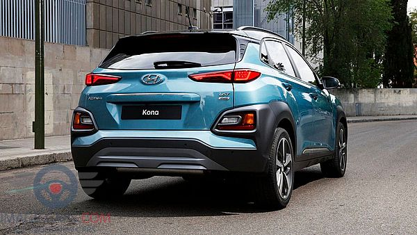 Rear view of Hyundai Kona of 2018 year