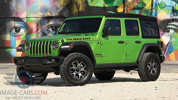 Front Left side of Jeep Wrangler of 2018 year