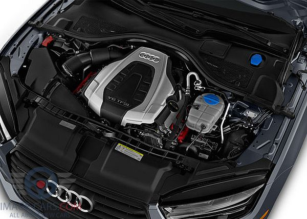 Engine view of Audi A7 of 2018 year
