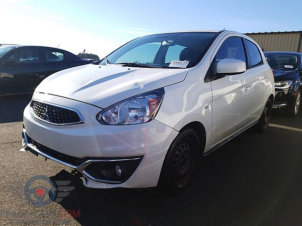 Front view of Mitsubishi Mirage of 2018 year