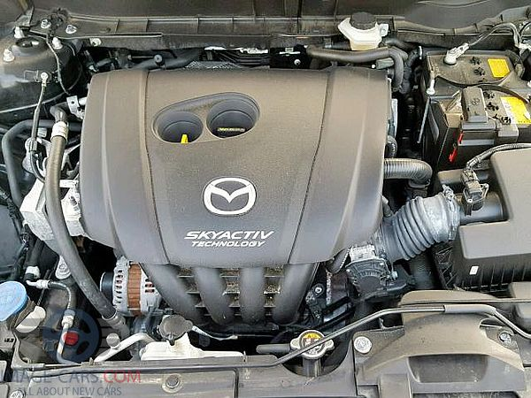 Engine view of Mazda CX3 of 2017 year