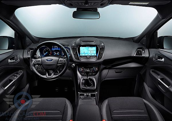 Dashboard view of Ford Kuga of 2018 year