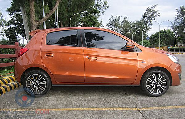 Right side of Mitsubishi Mirage of 2018 year