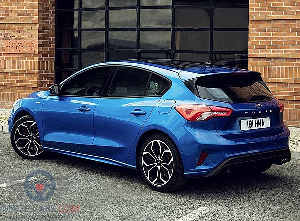 Rear Left side of Ford Focus of 2018 year