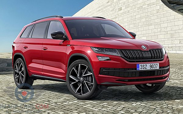Front Right side of Skoda Kodiaq Sportline of 2017 year