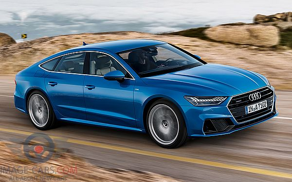 Front Right side of Audi A7 of 2018 year