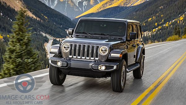 Front view of Jeep Wrangler of 2018 year