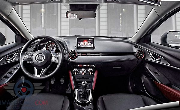 Dashboard view of Mazda CX3 of 2017 year